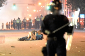 Riot Breaks Out After Game In Vancouver