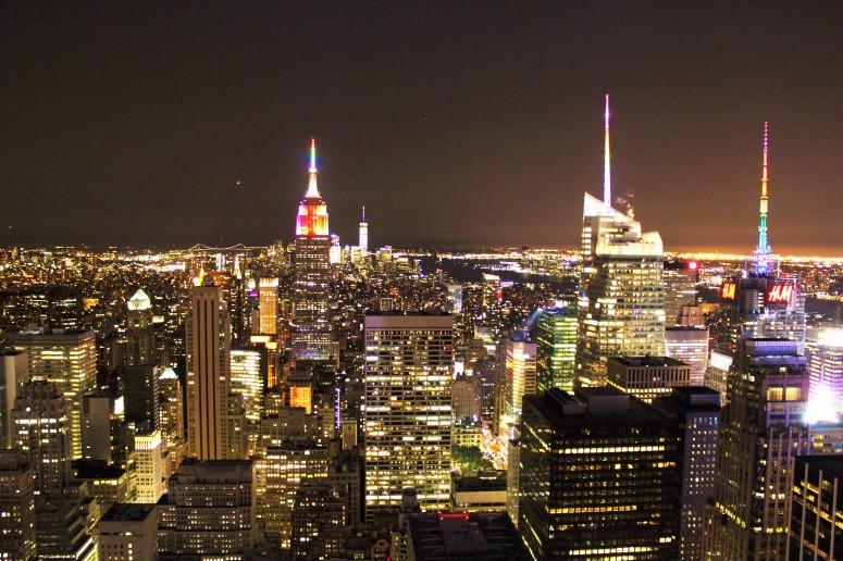 Vista dal Rockefeller center, notte.